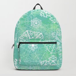 Snowflakes - green Backpack