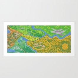Map of Applewood Art Print