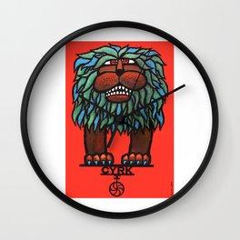 1967 Poland Circus CYRK Balancing Lion Poster Wall Clock
