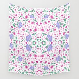Purple Floral Wall Tapestry