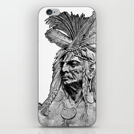 Chief / Vintage illustration redrawn and repurposed iPhone Skin