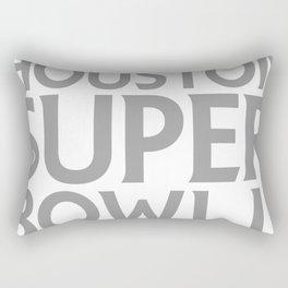 Super Bowl LI 2017 horns blk Rectangular Pillow