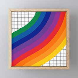 Rainbow Grid Framed Mini Art Print
