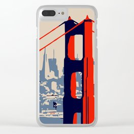 Golden gate bridge vector art Clear iPhone Case