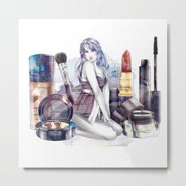 MAC Cosmetics Girl Metal Print