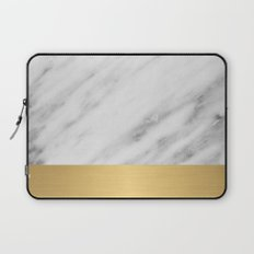 Carrara Italian Marble Holiday Gold Edition Laptop Sleeve
