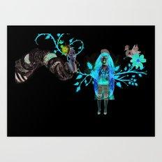 Alice Wonders Art Print