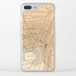 Vintage Map of Winnipeg Canada (1906) Clear iPhone Case
