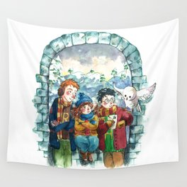 Golden Trio Wall Tapestry