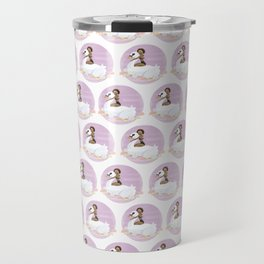 Summer Pool Party - White Swan Float A Travel Mug