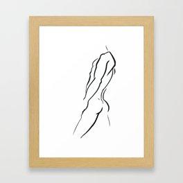 Torso. Silhouette of Man Framed Art Print