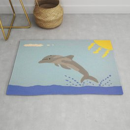 Leaping Dolphin Rug