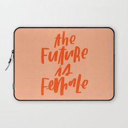 The Future is Female Pink and Orange Laptop Sleeve