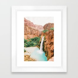 Havasu Falls / Grand Canyon, Arizona Framed Art Print