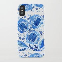 Inside Blue Roses iPhone Case