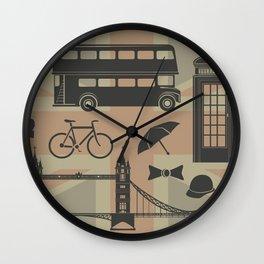 vector set of London landmarks Britain symbols isolated Wall Clock