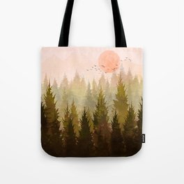 Hill Morning Tote Bag