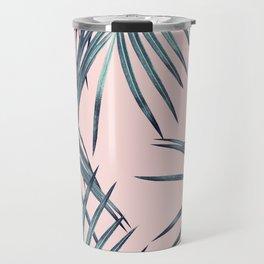 Blush Palm Leaves Dream #1 #tropical #decor #art #society6 Travel Mug