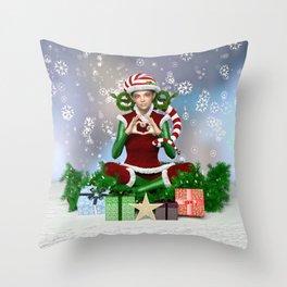 Jingles The Christmas Elf Throw Pillow