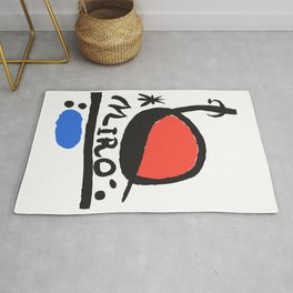 Joan Miró - L oiseau Solaire 1983 - Artwork for Prints Posters Tshirts Bags Women Men Kids Rug