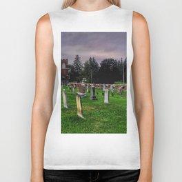 Country Church Cemetery Biker Tank
