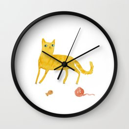 Nice Ginger Cat Wall Clock