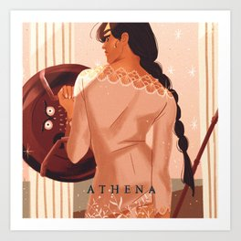 Greek Mythology Athena Art Print