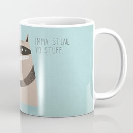 Sneaky Raccoon Coffee Mug