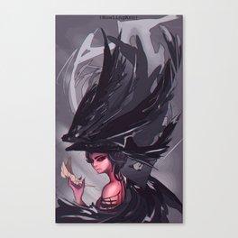 Crow Hair Canvas Print