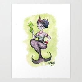 Queen Mermaid Art Print