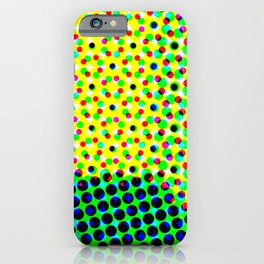 Green abstract dots iPhone Case