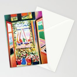 The Open Window Coastal - Floral and Maritime Collioure oil painting by Henri Matisse oil paint Stationery Cards
