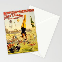 The Great Coney Island Water Carnival – Barnum & Bailey Circus Poster Stationery Cards