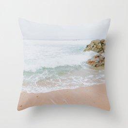 summer beach ix / carmel, california Throw Pillow