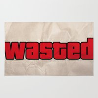 wasted rita Area & Throw Rugs featuring Wasted by TxzDesign