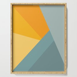 Abstract Mountain Sunrise Serving Tray