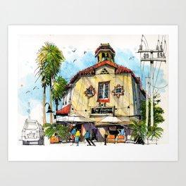 Burns Court, Sarasota Art Print