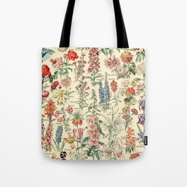 Vintage Floral Drawings // Fleurs by Adolphe Millot XL 19th Century Science Textbook Artwork Tote Bag