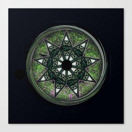 Bahai star square green Canvas Print