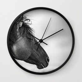 Horse in Sepia Wall Clock