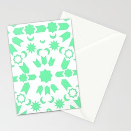 Mint Arabesque Stationery Cards