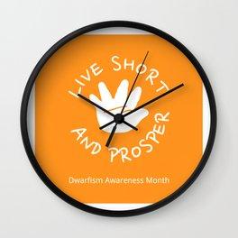 Live short and prosper - Orange Wall Clock