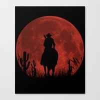 red dead redemption Canvas Prints featuring John Marston - Red Dead Redemption by TxzDesign