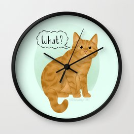 What's New Kitty Cat Wall Clock