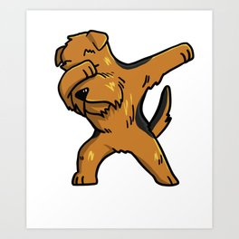 Funny Dabbing Airedale Terrier Dog Dab Dance Art Print