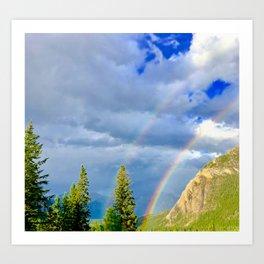 Canadian Rocky Rainbow Art Print