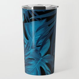 Tropical Jungle Night Leaves Pattern #2 #tropical #decor #art #society6 Travel Mug