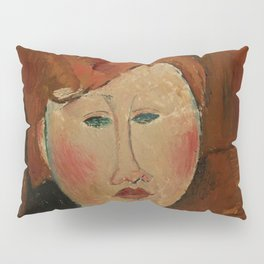 """Amedeo Modigliani """"Femme aux cheveux rouge (Woman with Red Hair)"""" Pillow Sham"""