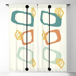 Mid Century Modern Shapes 02 Blackout Curtain