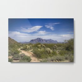 Superstition Mountain View Metal Print